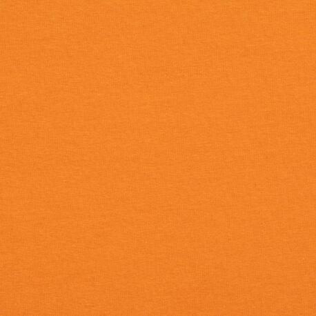 Tissu pour sweat jersey coton uni - Orange foncé