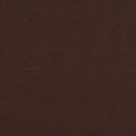 Tissu pour sweat jersey coton uni - Marron