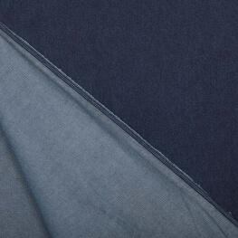 Tissu jean bleu brut uni 100% coton