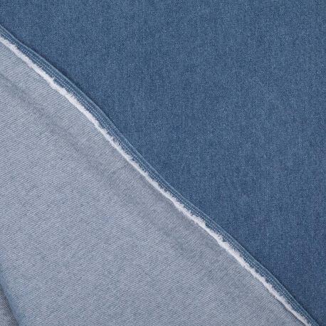 Tissu jean bleu uni 100% coton