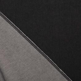 Tissu jean noir uni 100% coton