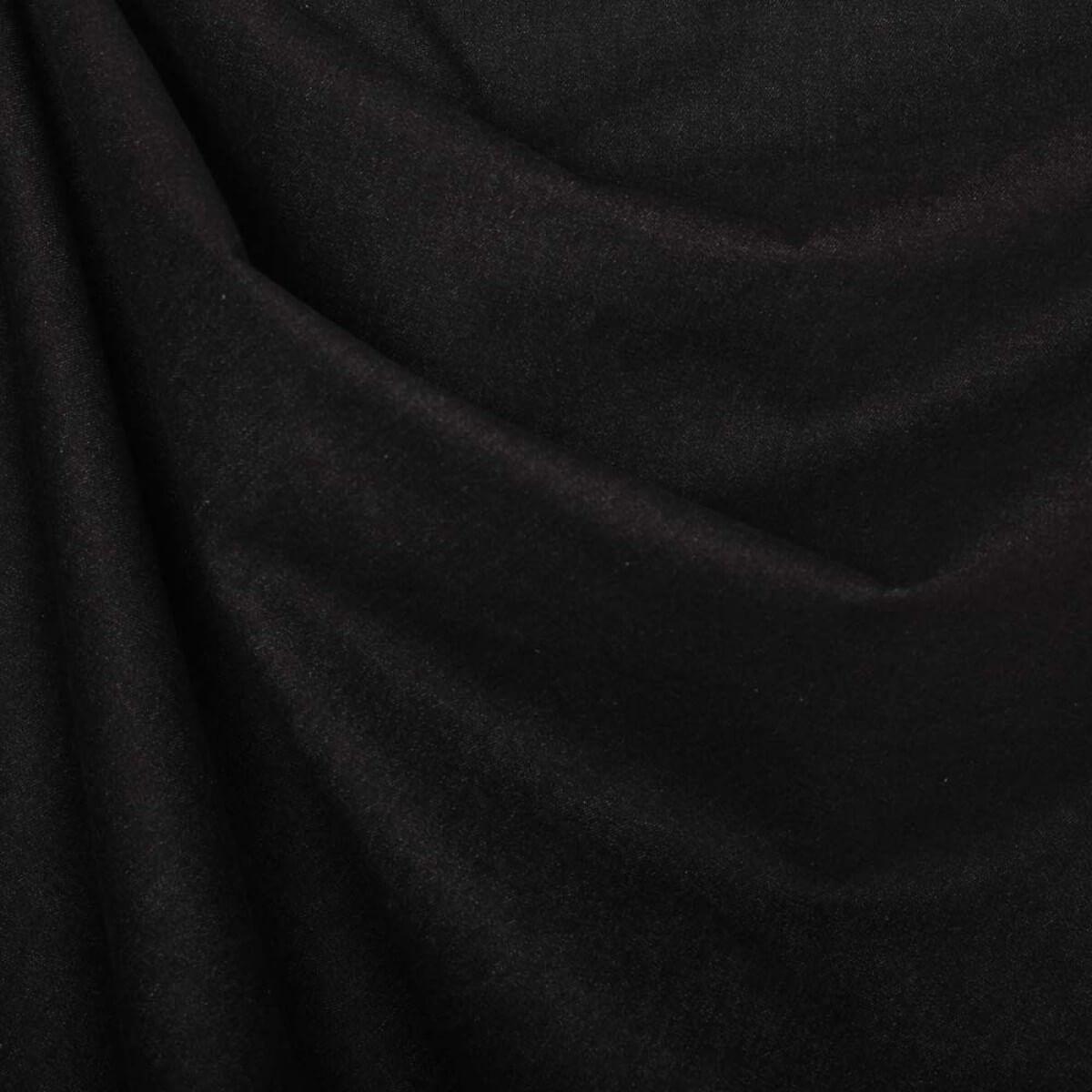 tissu jean uni 100 coton noir. Black Bedroom Furniture Sets. Home Design Ideas