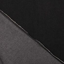 Tissu jean denim coton stretch uni noir