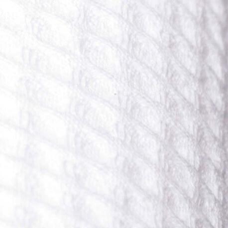Tissu nid d'abeille - Blanc