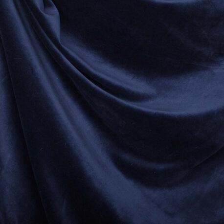 Tissu nicki velours - Bleu nuit