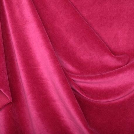 Tissu nicki velours - Rose foncée