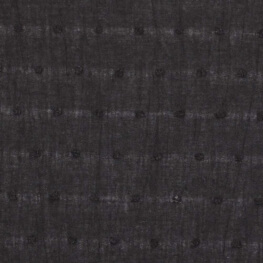 Tissu coton plumetis uni - Noir