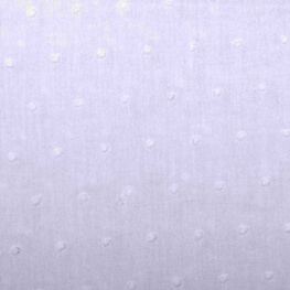 Tissu coton plumetis uni - Blanc