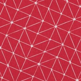 Tissu coton cretonne graphique origami - Rouge