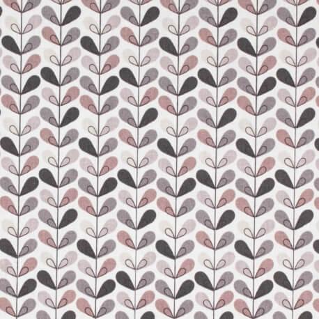 Tissu coton cretonne scandinave - Beige