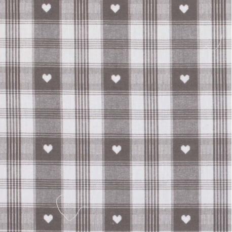 Tissu coton traditionnel alsacien & montagne - Gris