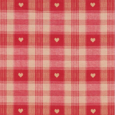 Tissu coton traditionnel alsacien & montagne - Rouge
