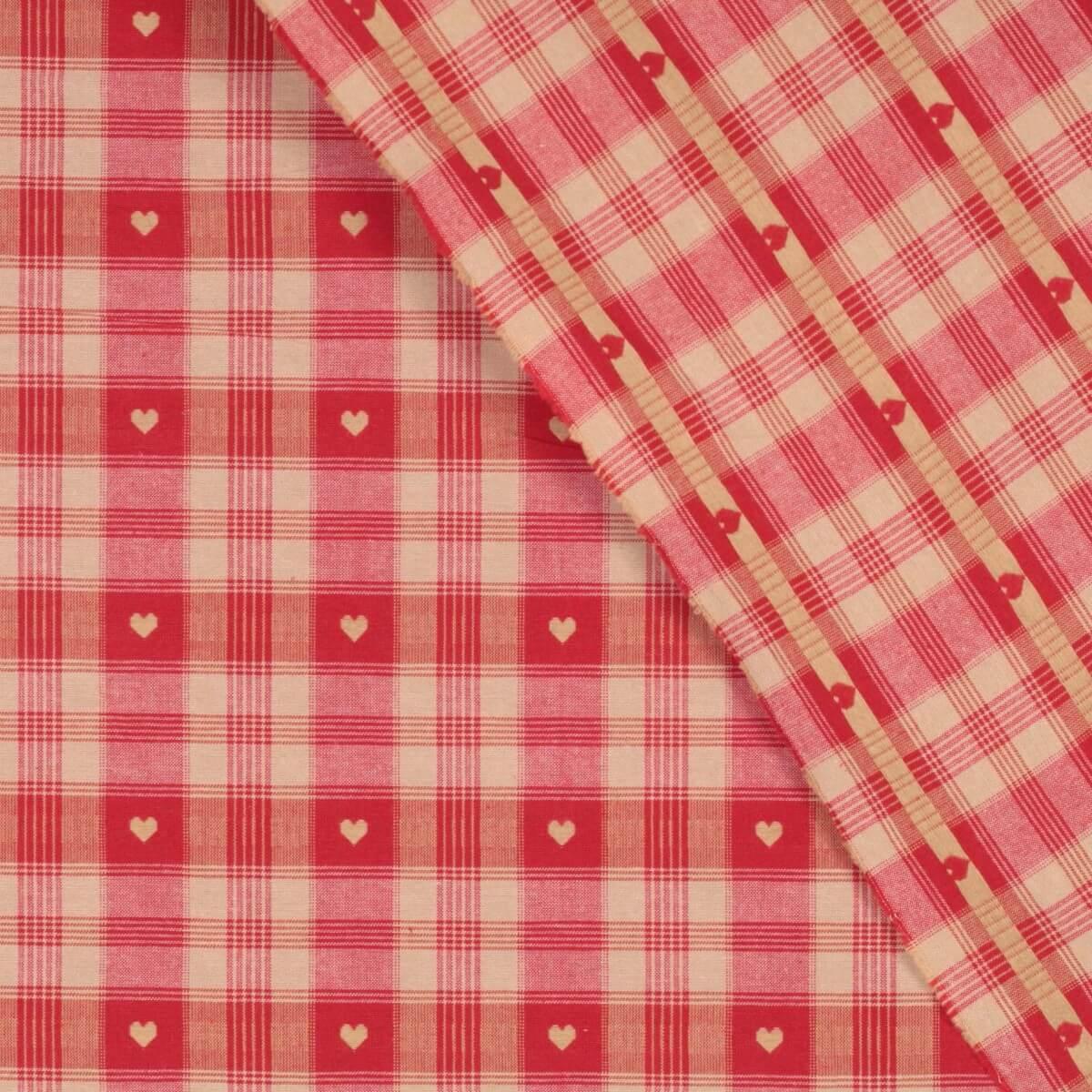 tissu coton traditionnel alsacien montagne rouge. Black Bedroom Furniture Sets. Home Design Ideas