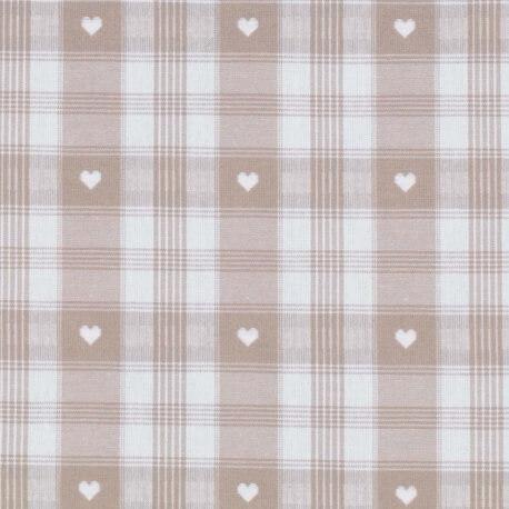 Tissu coton traditionnel alsacien & montagne  - Beige