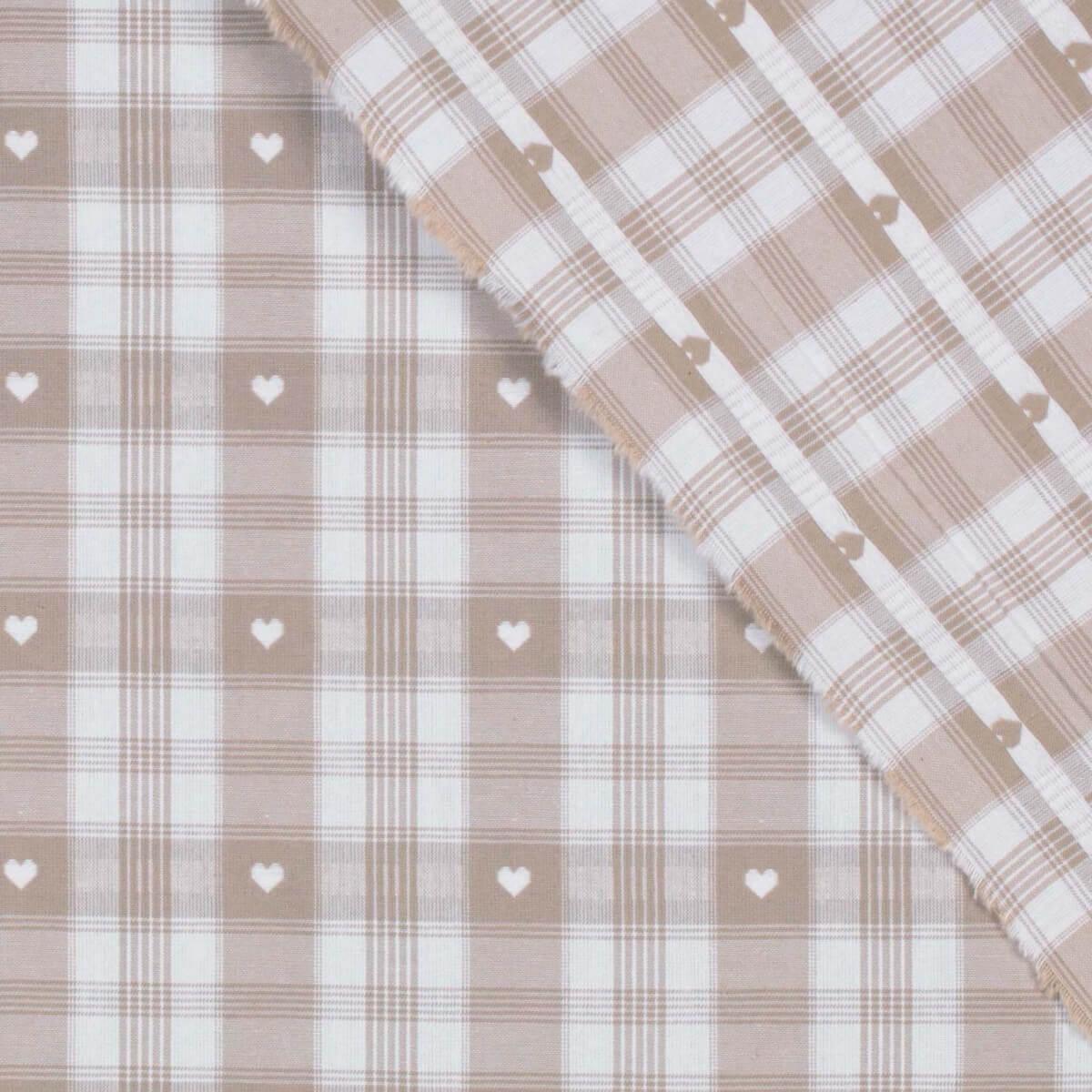 tissu coton traditionnel alsacien montagne beige. Black Bedroom Furniture Sets. Home Design Ideas