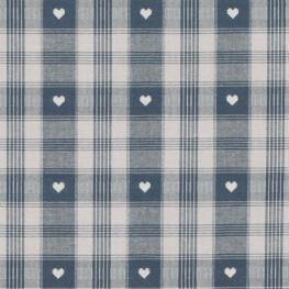 Tissu coton traditionnel alsacien & montagne - Bleu