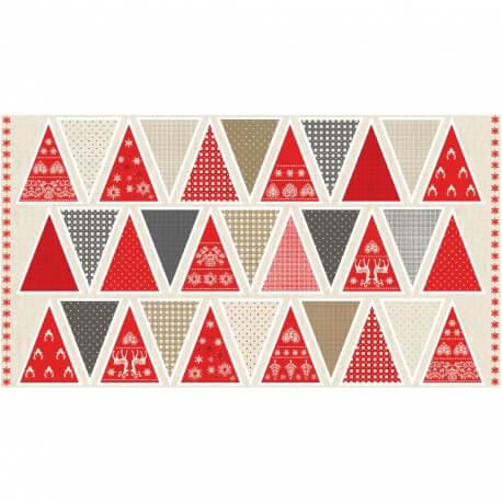 Kit DIY fanions à coudre - Montagne & Noël