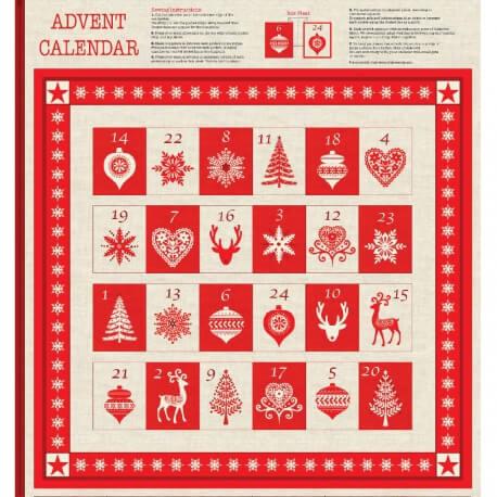 Kit DIY calendrier de l'avent à coudre - Montagne & Noël