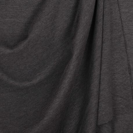 Tissu jersey lourd uni - Mélange gris foncé