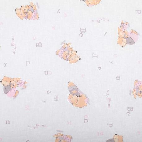 Tissu coton enfant douceur - Rose