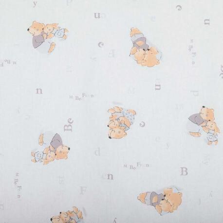 Tissu coton enfant douceur - Bleu