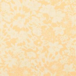 Tissu coton île fleuri - Jaune & orangé