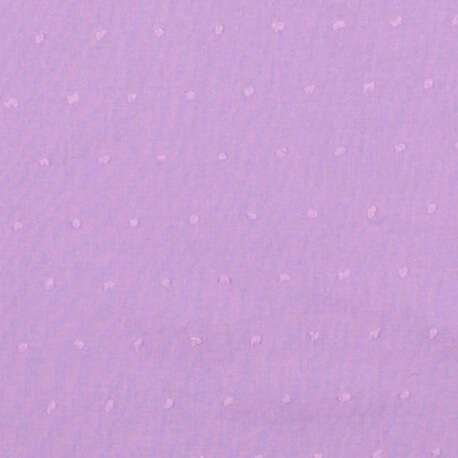 Tissu coton plumetis uni - Parme