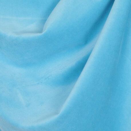 Tissu nicki velours - Bleu