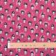 Tissu coton petite geisha manga - Rose fuchsia