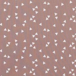 Tissu coton triangle - Brun