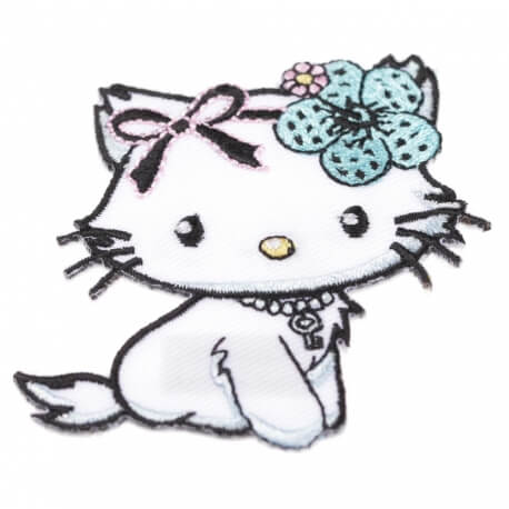 Ecusson Hello Kitty noeud bleu