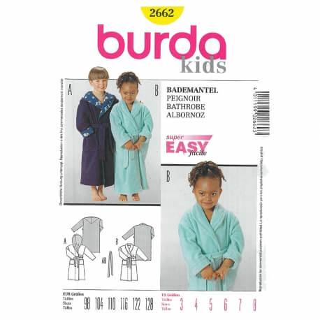 Patron peignoir enfant - Burda 2662