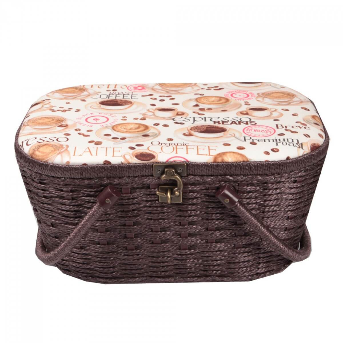 coffret panier couture fantaisie coffee taille l
