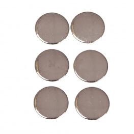 Boutons pressions métal rond 11,5mm - Argent