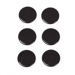 Boutons pressions métal rond 11,5mm - Noir
