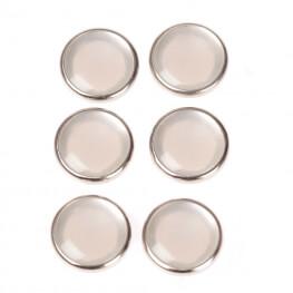 Boutons pressions métal rond 11,5mm - Nacre