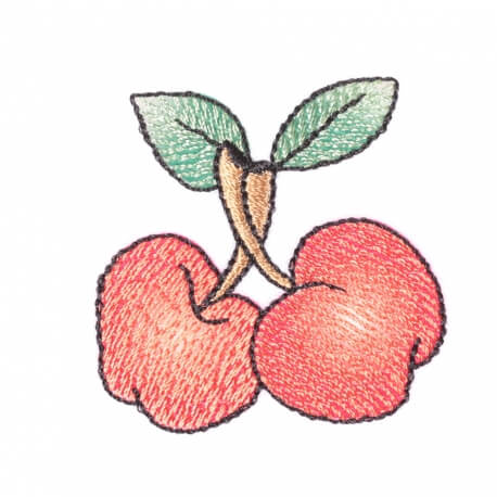 Ecusson cerises et feuilles