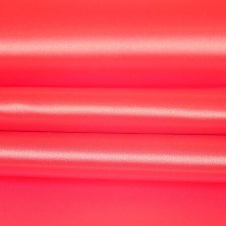 Tissu satin uni rouge tomato