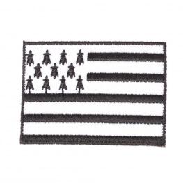 Ecusson drapeau breton - Noir et blanc