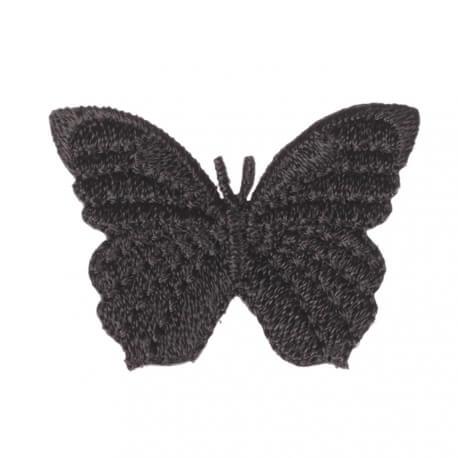Ecusson papillon uni - Noir