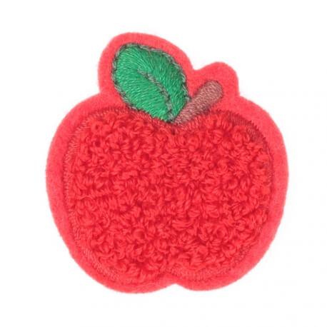 Ecusson pomme rouge et feuille