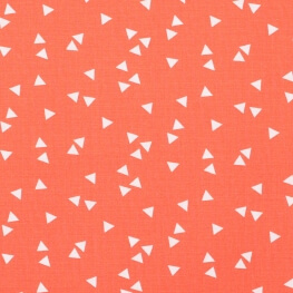 Tissu coton triangle - Rose fuchsia