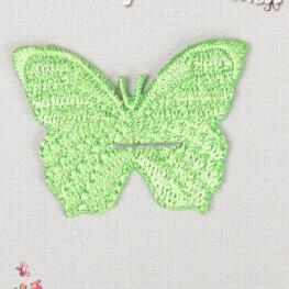 Ecusson papillon uni - Vert