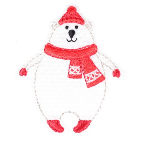 Ecusson personnages d'hiver ours polaire