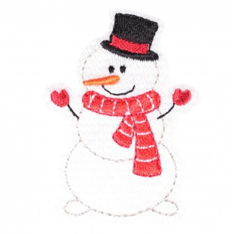 Ecusson personnages d'hiver bonhomme de neige