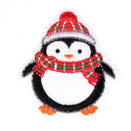 Ecusson personnages d'hiver pingouin