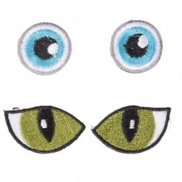 Ecussons yeux - Bleu ou vert