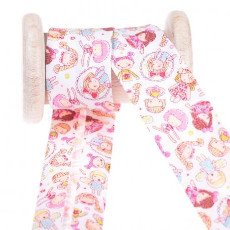 Biais coton enfant poupées au mètre