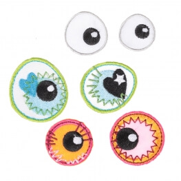 Ecussons yeux fantaisies - 3 paires