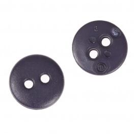 Bouton rond mat classic bleu marine - 12 & 15 mm